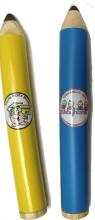 Canudo estojo para 12 lápis grande.