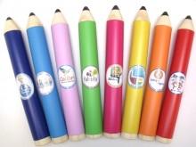 Canudos modelo lápis para diploma, várias cores com logomarca.